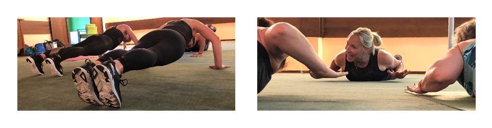 Härlig energi på Tabata och Yogaeventet!